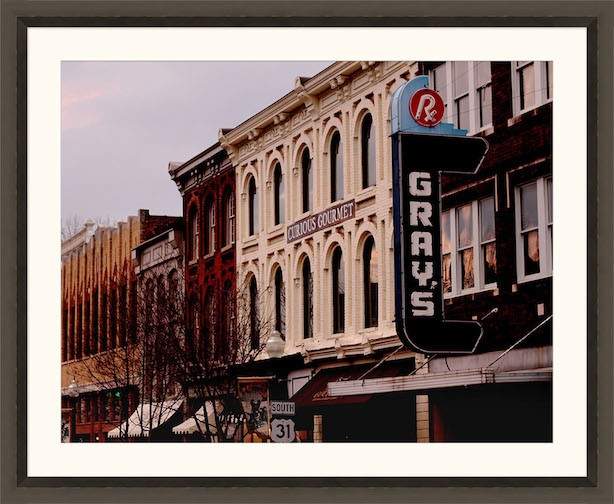 Downtown Franklin, Tennessee.