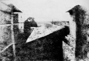The world's oldest surviving photograph, 'View from the Window at Le Gras,' 1826 / Nicephore Niepce